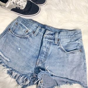 Levi's 501 button fly jean shorts cutoffs, size 26